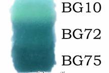 COPICS: BLUE GREENS / Copic Marker Color Combinations