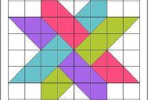 Star block quilt