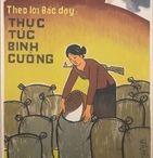 North Vietnam circa 1960s/1970s / Art of north Vietnamese propaganda artists