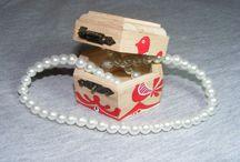 Handmade, Handpainted wood box