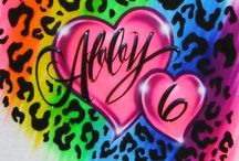 Airbrushed t-shirt Art