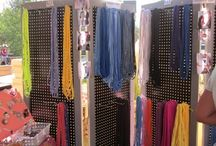 Store Display Ideas / Ideas for the store: cutting tables, fabric displays, fat quarter displays, etc...