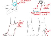 art references: feet