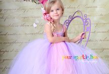 Little girls dress up tea party
