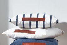 Denim cushions