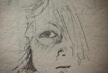 my work Eye #sketch on #london #underground #drawing #draw365 #sketchbook #draw #pencil #portrait