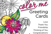 Color Me an Inkspirations Greeting Card / Greeting cards you can color and send to the loved ones everywhere!!  Personal, creative, artistic, intimate, warm, beautiful....