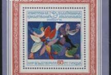Children's Drawings Stamps / Most children love to make drawings and paintings. Many countries have issued stamps featuring children's art over the years.