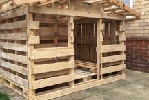 Maison en bois de palettes