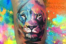 Tatouages à l'aquarelle