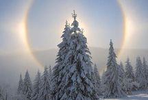 自然 雪山