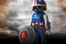 creatobil / famous figures re-constructed with playmobil by Reinhard Heel