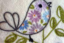 haftowany ptaszek