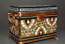 Antique glass caskets