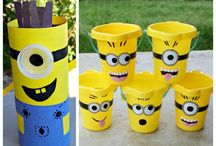 Minion Party & Crafts / Inspiration for minion birthday parties, minion crafts and all things evil. Banana themed parties. Minion Overall and Goggles crafts and everything else yellow and blue!
