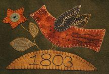 appliqués de laine - wool / by Carole Grant