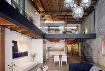 Loft Living / converted loft, industrial chic, interiors