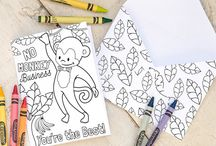 Crafts for kids, printables, coloring pages, classroom activities and more / by Tiffany Everett Etsy Party Printables, Kids Art Prints, and lots of cute stuff