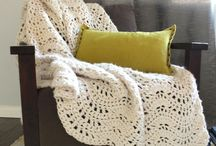 Crochet thick blanket