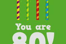 80th Birthday Cards