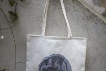 embroided tote bag - graphic designed by /'babske/ couture