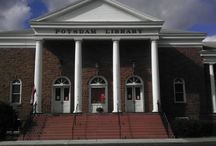 Potsdam Public Library / Photos from my visit on 10/10/14. The librarian here was very service oriented.  Stats are available to the public online. http://www.potsdamlibrary.org/ This library is part of a four-county resource-sharing consortium.  And I was told their funding is a line-item on the local public school budget.