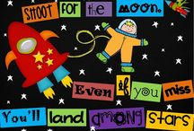 Apollo 11 for Kids / Fun elementary classroom ideas and activities for learning about the Apollo 11 mission. The 50th anniversary of the first moon landing is in 2019! Space themes for decor and classrooms, space games, astronauts, and more...