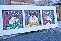 Window Painting / by Lisa Jelle -Kaleidoscope Art&Gifts