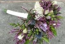 Rustic winter purple wedding