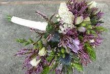 Rustic winter purple wedding