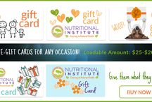 Gift cards offered by Nutritional Institute