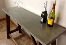 Table et console ciment