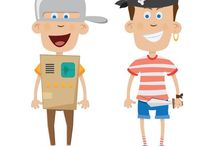 People free vector image / Vector illustrations, sketches and portraits of people.