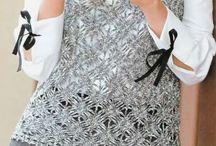 Tığ ile kolsuz bluz :