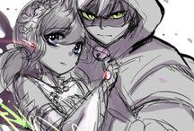 lady bug & cat noir