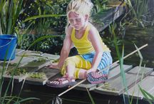 Schilderijen van Kinderen / This paiting is about children, about how they live in their own surroundings