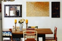 Interior Decor for L & B's Modern Home  / Furniture, lighting, finishes and objects for a colourful contemporary home.