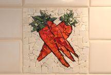 mozaiek: keuken