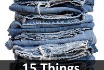 syning af jeans