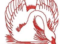 Redwork Swan