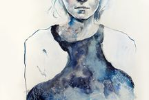 Artwork: Agnes Cecile aka Silvia Pelissero / Silvia Pelissero, a painter best known as Agnes Cecile, was born in Rome, Italy. She has become a successful self-taught artist known for her layered, gorgeous watercolor work. Agnes Cecile's creates rich, emotional human portraits using humble images coupled with abstract color and detail.
