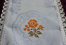 Cross stitch & crochet doily / by Dalia Ahmed