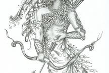 Elfky,víly a portréty