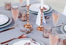 rose quartz + gray wedding