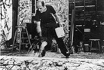 Artist - Jackson Pollock / Jackson Pollock (January 28, 1912 – August 11, 1956), was an influential American painter and a major figure in the abstract expressionist movement. He was well known for his uniquely defined style of drip painting.