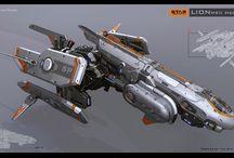 space ship, robots, scifi