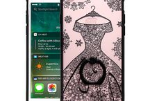 Black Lace iPhone 7 Case / Clear Black Lace Case - Floral Pattern with Ring Holder - for iPhone 7. MOQ: 50PCS. Wholesale Price: £1.28/pc.