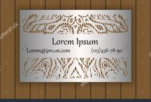 Laser Cut / Business, visiting or invitation card template may be used for laser cutting from paper, metal, wood.
