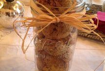 Présentation biscuits sur une table / Décoration
