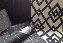 Black & White Wonders / This little bunch of black and white wallpapers are new arrivals, they look brilliant and are ideal for those whom are a little colour shy.